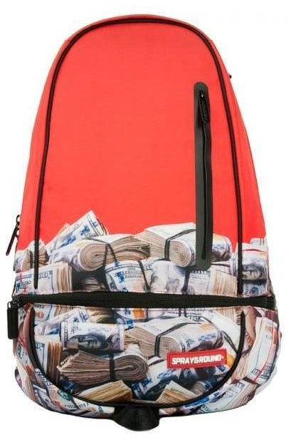 SPRAYGROUND Backpack The Game Red Money Rolled - Circle Collective