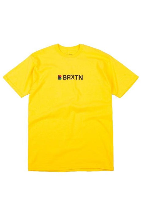 BRIXTON T-Shirt Stowell IV Yellow - Circle Collective