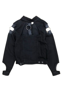 TOTAL BLACK Denim Jacket Link - Circle Collective