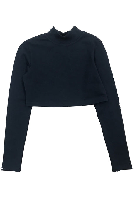 TOTAL BLACK Cropped Long Sleeve Grace - Circle Collective