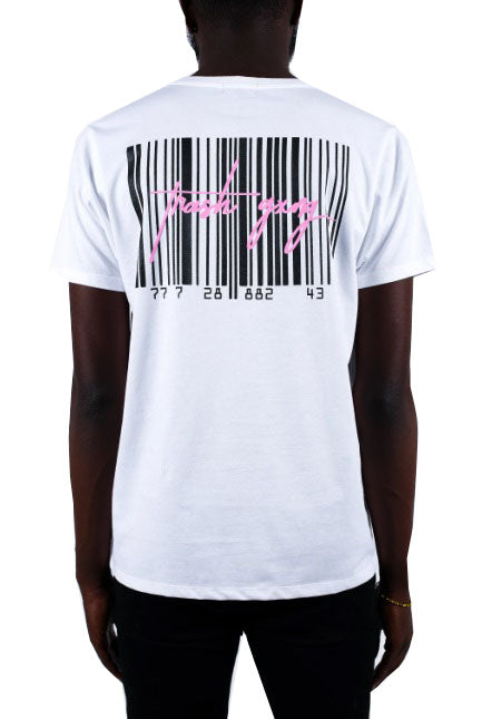 TRASH GXNG T-Shirt Barcode Box White - Circle Collective