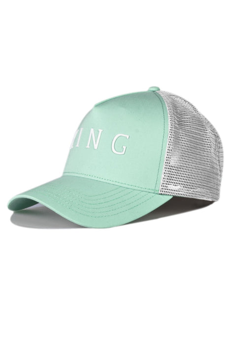 KING APPAREL Mesh Trucker Cap Leyton Mint - Circle Collective