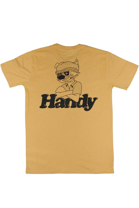 HANDY SUPPLY CO T-Shirt Street Cat Mustard Yellow - Circle Collective