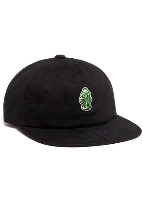 HUF Cap 6 Panel Hydrant Unstructured Black - Circle Collective