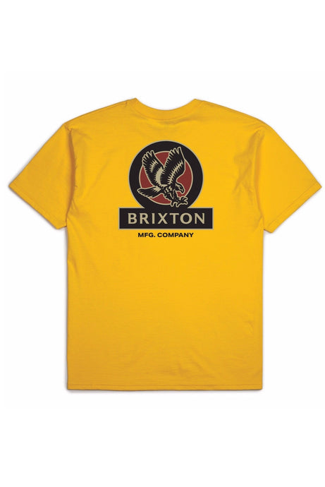 BRIXTON T-Shirt Reach Athletic Gold - Circle Collective
