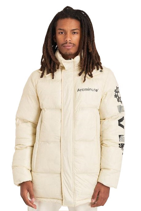 ARCMINUTE Puffer Jacket Warp V2 Off White - Circle Collective