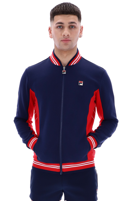 FILA VINTAGE Jacket Settanta Peacoat/Red - Circle Collective