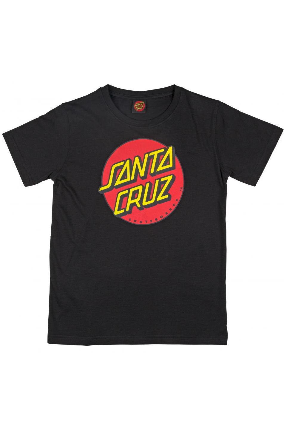 SANTA CRUZ T-Shirt Classic Dot Black - Circle Collective