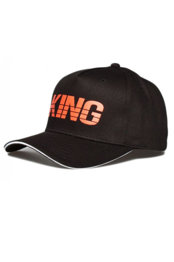 KING APPAREL Curved Cap Manor Black/Mandarin - Circle Collective