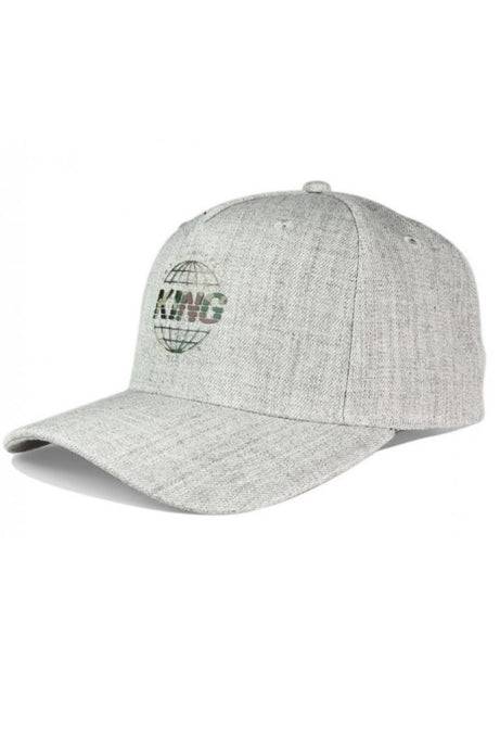 KING APPAREL Curved Cap Bethnal Stone Grey - Circle Collective