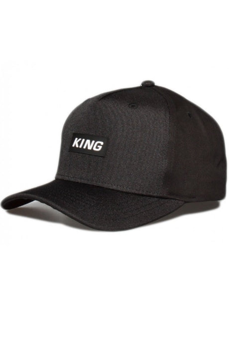 KING APPAREL Curved Cap Dalston Black - Circle Collective