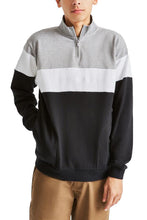 BRIXTON Sweatshirt Half Zip Cantor Heather Grey/Black - Circle Collective
