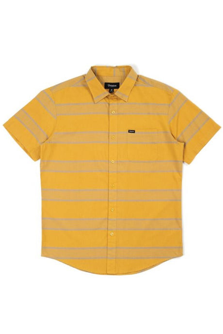 BRIXTON Shirt Short Sleeve Charter Woven Honey - Circle Collective