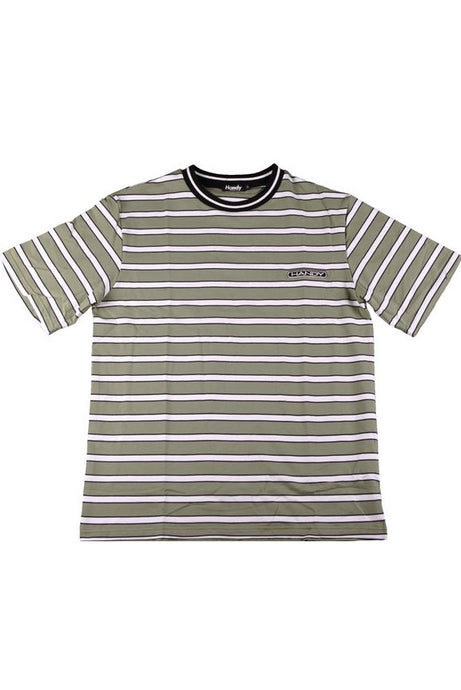 HANDY SUPPLY CO T-Shirt Vintage Heavyweight Striped Olive