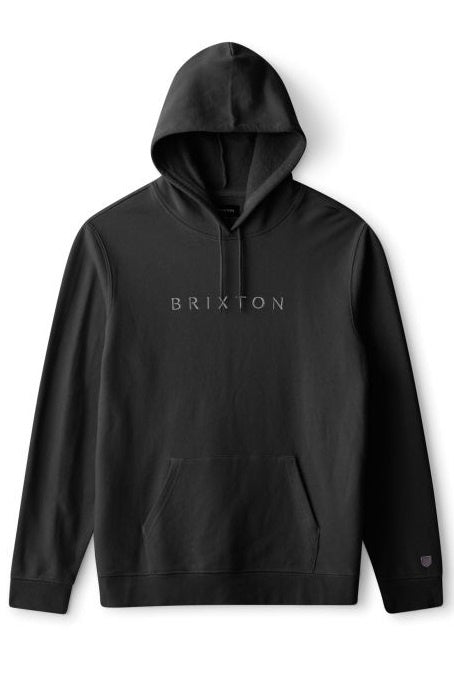 BRIXTON Hoodie Alpha Line Black - Circle Collective
