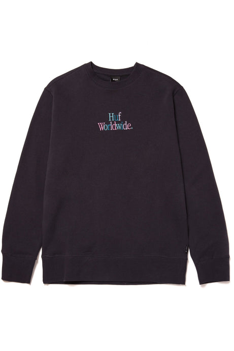 HUF Sweatshirt Crew Neck Woz French Navy - Circle Collective