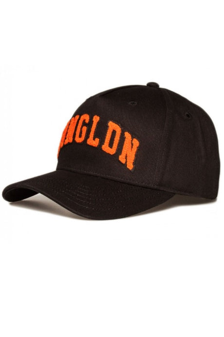 KING APPAREL Curved Cap Blackwall Varsity Black/Mandarin - Circle Collective