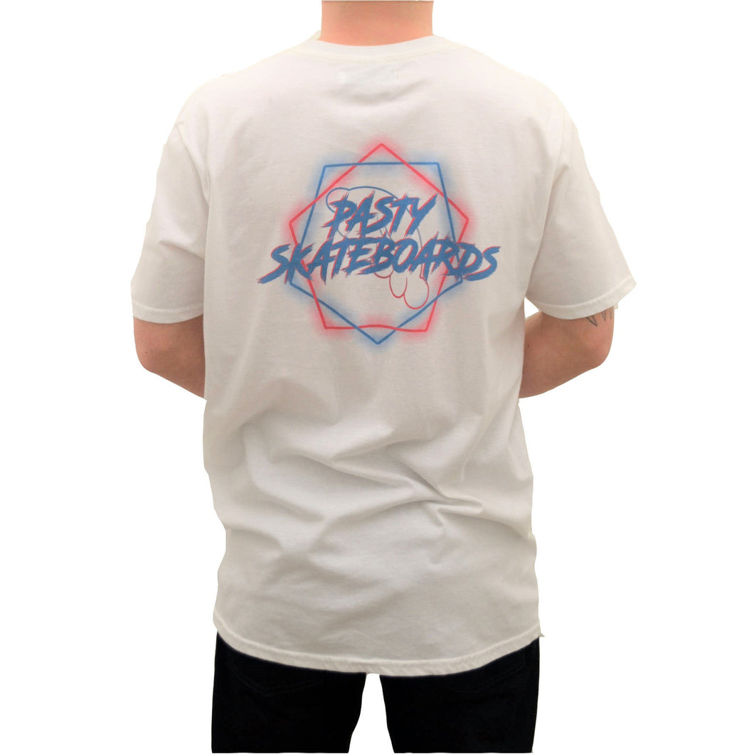 PASTY T-Shirt Neon White
