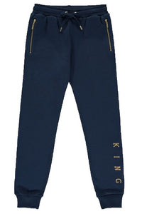 KING APPAREL Track Pant Tennyson Ink Blue/Gold - Circle Collective