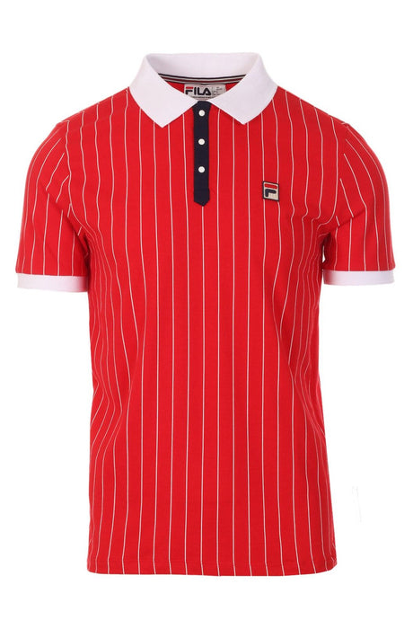 FILA VINTAGE Polo Shirt BB1 Chinese Red/White | Circle Collective