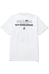 HUF T-Shirt We Give You White/Green - Circle Collective