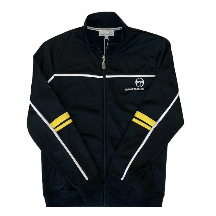 FILA Vintage Jacket Shay Velour Black/Blue Aster - Circle Collective