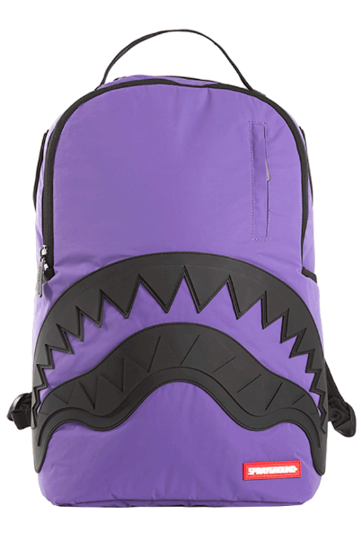 SPRAYGROUND Backpack 3M Rubber Shark Purple/Black - Circle Collective