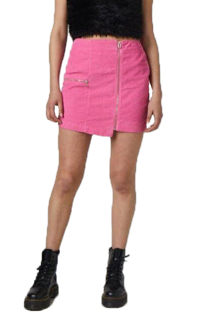 THE RAGGED PRIEST Skirt Plastic Pink - Circle Collective