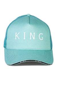 KING APPAREL Mesh Trucker Cap Stepney Mint - Circle Collective