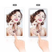 LED Touch Screen Makeup Mirror 180 Degree Rotating - Mirrex™