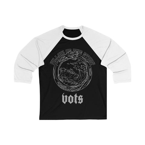 Serpent Outlined Baseball Tee