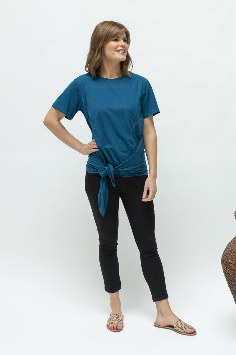 summer-breastfeeding-top-nz-tietee-peacock blue-front