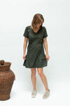 Breastfeeding dress nz-ruffledress-sage-frontprofile
