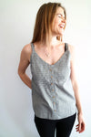 Button cami - Sage - SIZE 6 ONLY