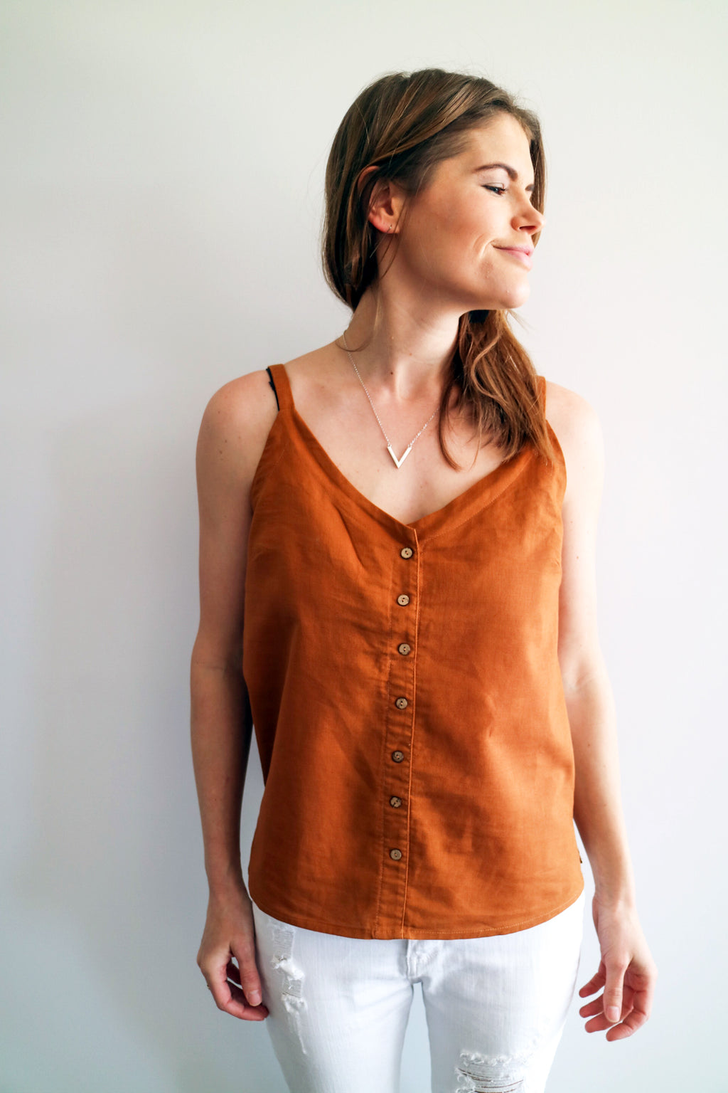 Button cami - Rust - PRE-SALE