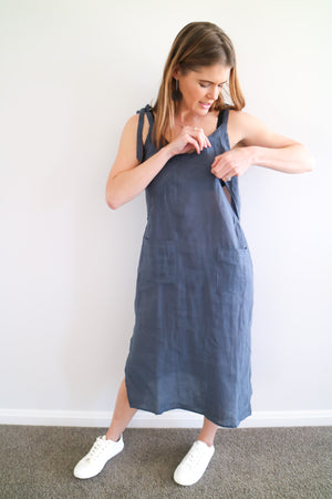 how-to-breastfeeding-dress-linen