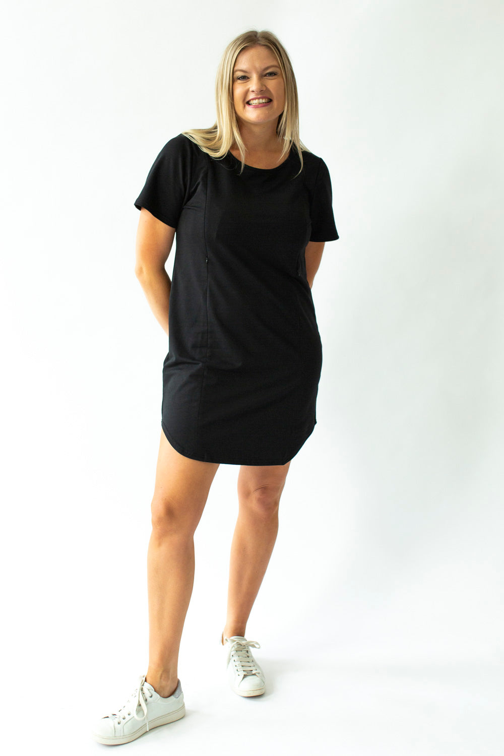 Boxy Tee Dress in Black - Close To The Heart