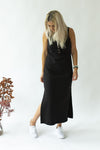 Black midi rib dress-summer-breastfeeding-dress-nz-profile