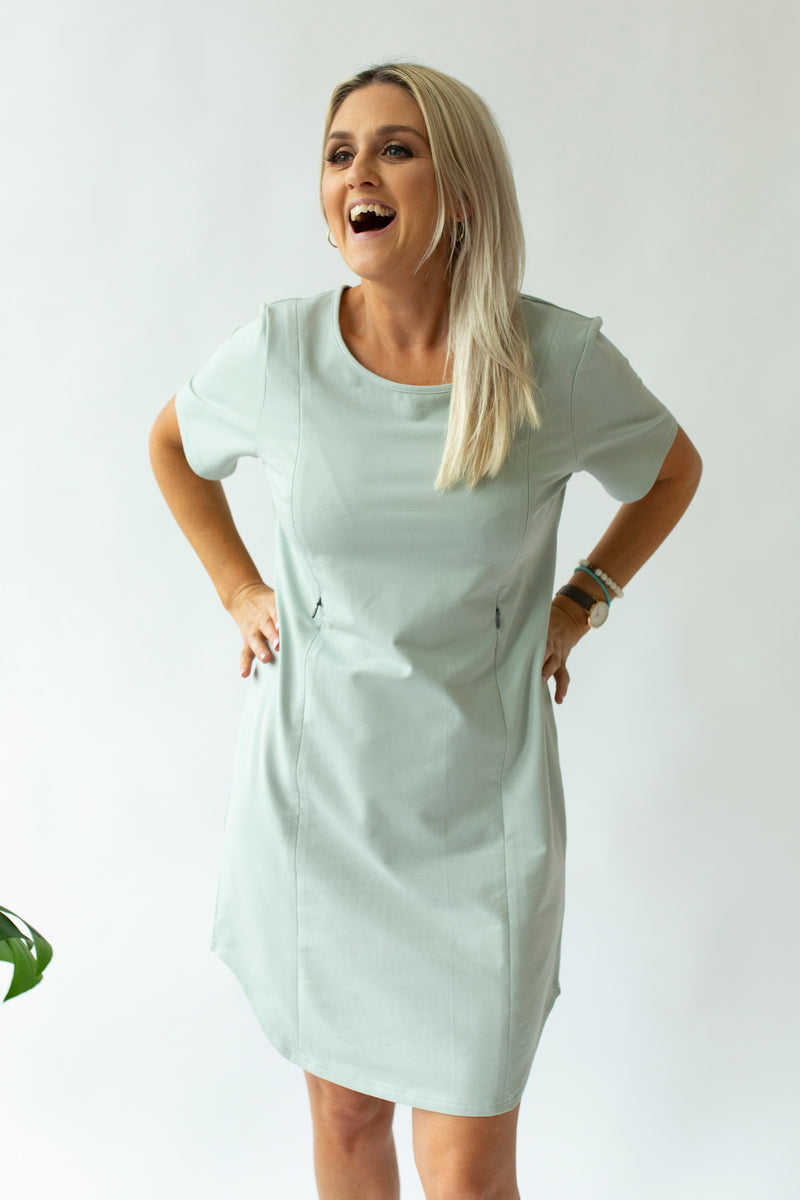 Boxy Tee Dress in Sea Foam - Close To The Heart