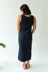 Midi Rib Dress in Midnight Blue - Close To The Heart