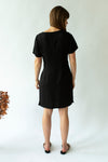 Zip-Up Dress in Black with Gold Zip - Close To The Heart