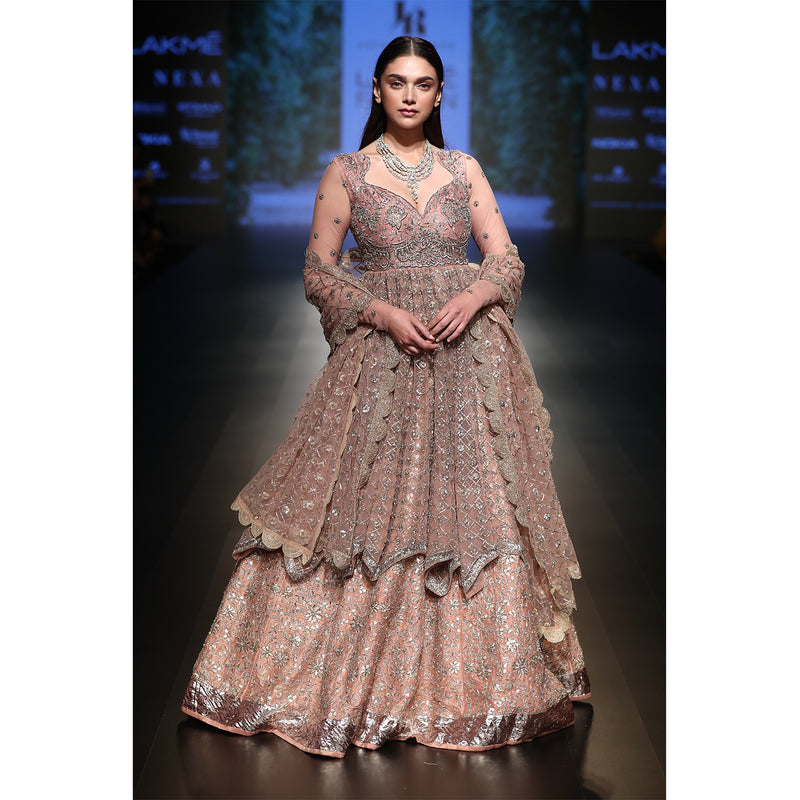 Blush Pink Gotta Patti Lehenga Set