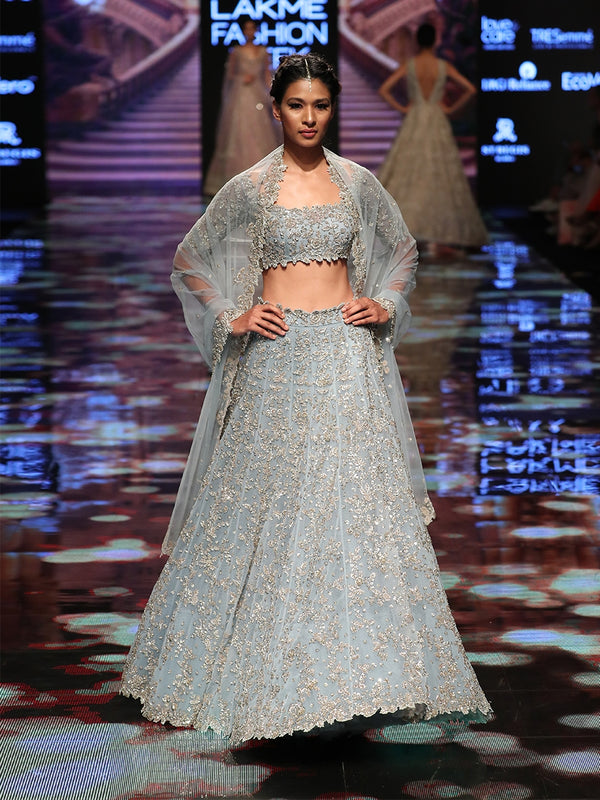Powder Blue Lehenga Set