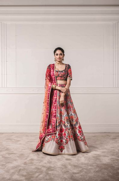Floral Printed Lehenga Blouse with Shaded Dupataa