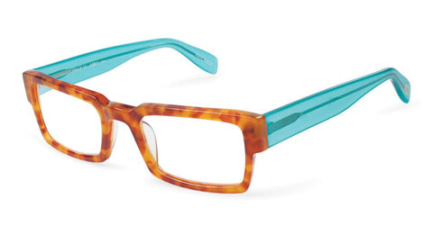 Prince Street SCOJO NY stylish reading glasses amber tortoise and turquoise frames