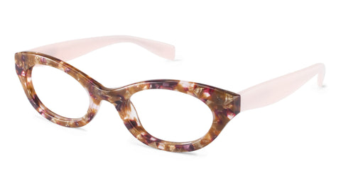 Albany Street SCOJO reading glasses in brown and pink