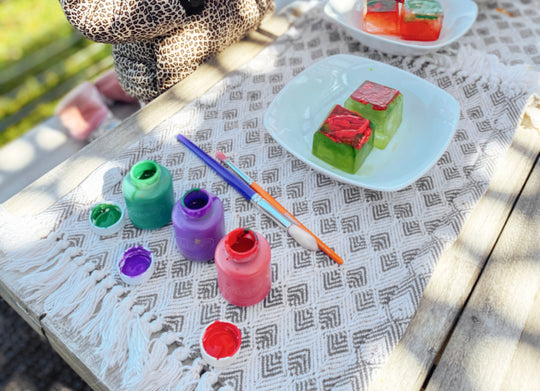Painting Ice Cubes: Water & Ice Experiment