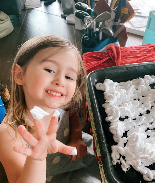 Marble Shaving Cream Arts and Crafts Project for Toddlers