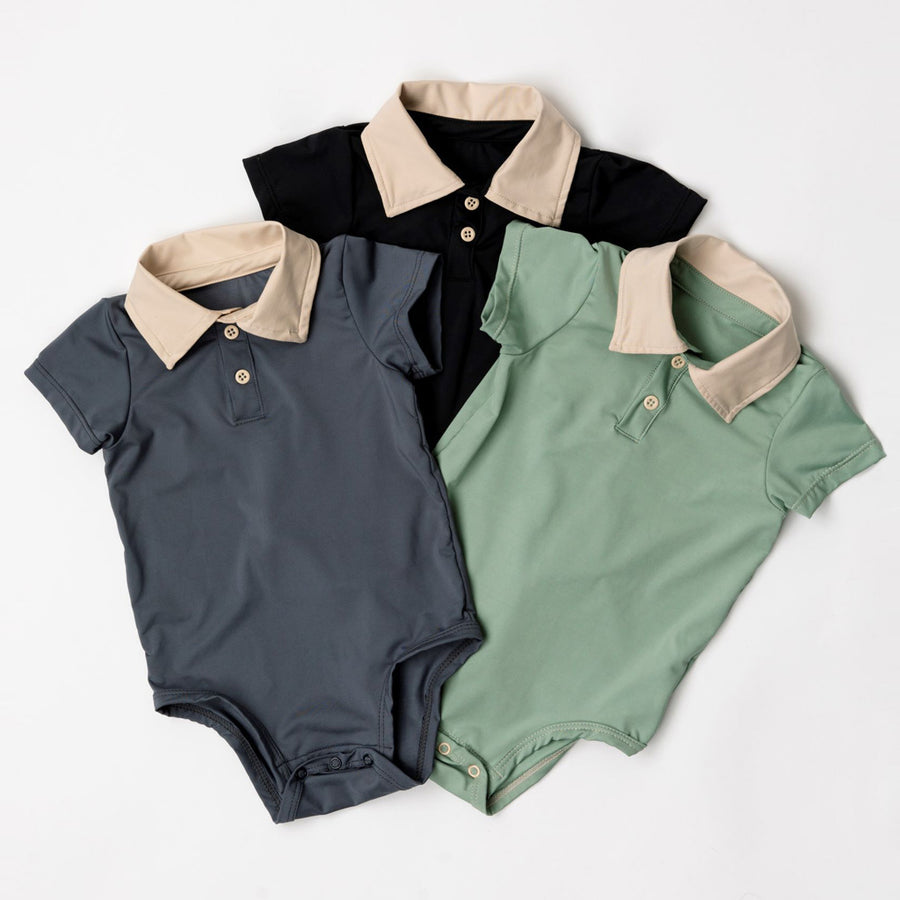 Happy Lil' One Baby Boy 3-Pack Bodysuit Bundle