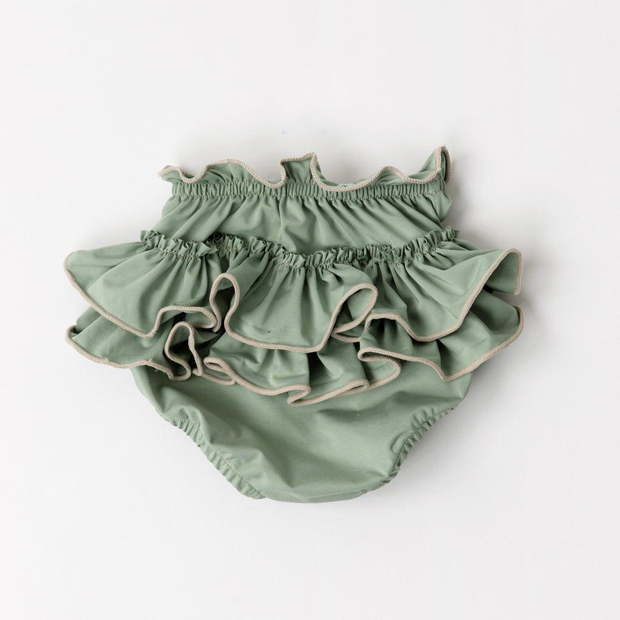Happy Lil' One Sage Green Baby Girl Bloomer